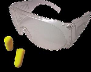 Поликарбонатные очки и беруши