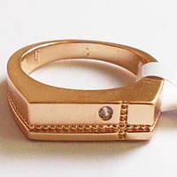"""Мужское кольцо перстень """"Алекс"""". Размеры 18, 19, 20. Ювелирная бижутерия, позолота 18К, фото 1"""