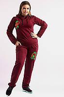 Женский спортивный костюм однотонный