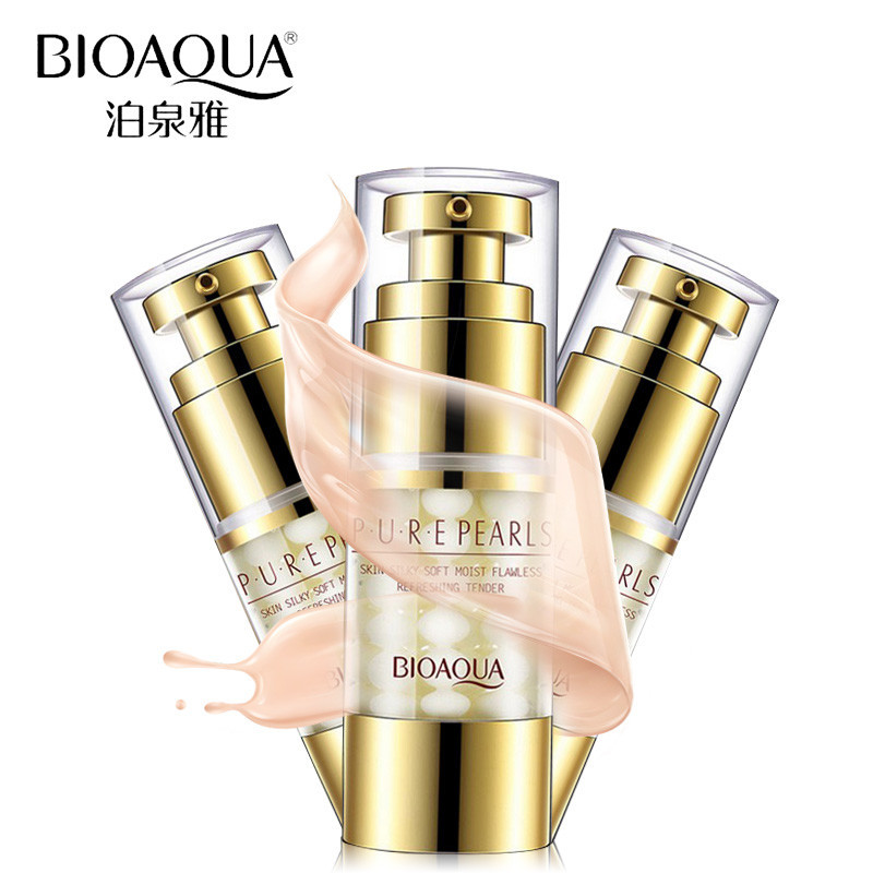 Увлажняющий антивозрастной крем для глазс натуральной жемчужной пудройBioAqua Pure Pearls 25 ml