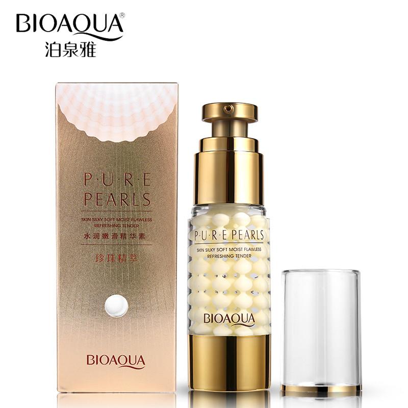Увлажняющий антивозрастной крем для глазс натуральной жемчужной пудройBioAqua Pure Pearls 35 ml