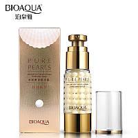 Увлажняющий антивозрастной крем для глазс натуральной жемчужной пудройBioAqua Pure Pearls 35 ml, фото 1