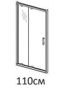 Душові двері 110см