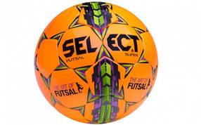 Мяч футзальный №4 SELECT FUTSAL SUPER (FIFA APPROVED) (оранжевый-зеленый-малиновый)