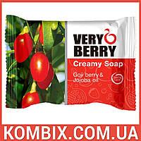 """Крем-мыло """"Ягоды годжи и масло жожоба"""" / Creamy Soap Goji berry & Jojoba oil (100 грамм)"""