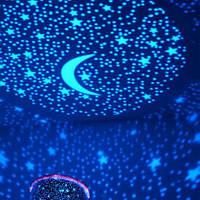 Ночник проектор звездного неба Star Master работает от сети (чёрный, розовый, фиолетовый, голубой цвет)