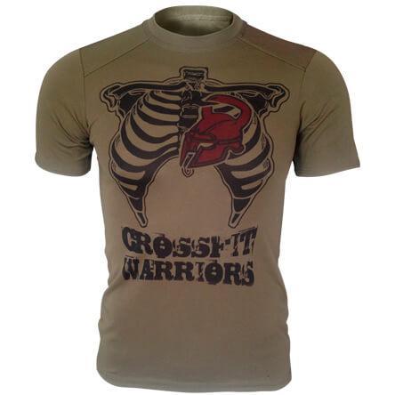 Футболка олива Crossfit Warriors CoolMax (потовідвідна)