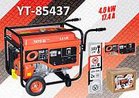Электрогенератор бензиновий 220В., 4,0 кВт., бак 25л., YATO YT-85437