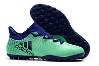 Футбольные сороконожки adidas X Tango 17.3 TF Aero Green/Unity Ink/Hi-Res Green, фото 1