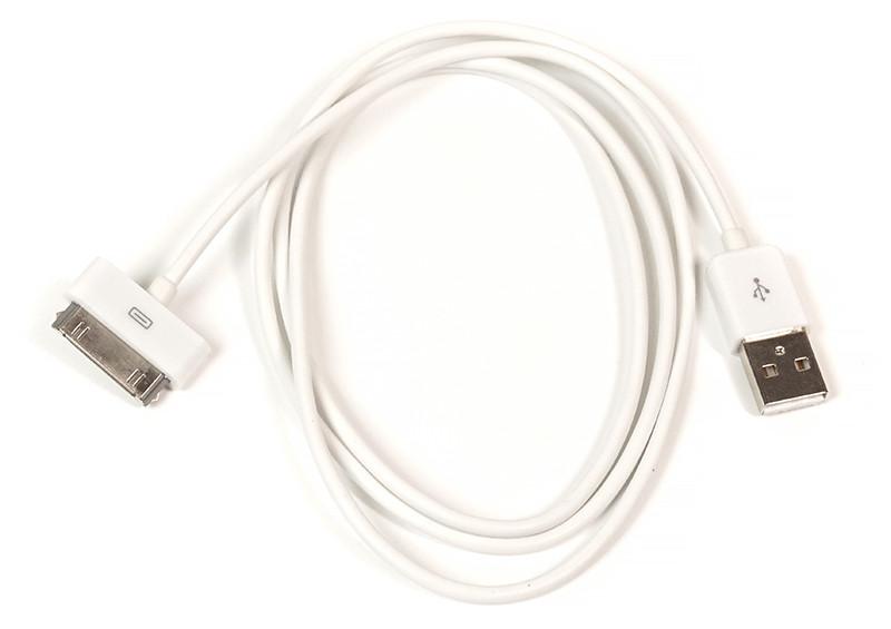 Кабель PowerPlant USB - 30pin (4/4s), 1м