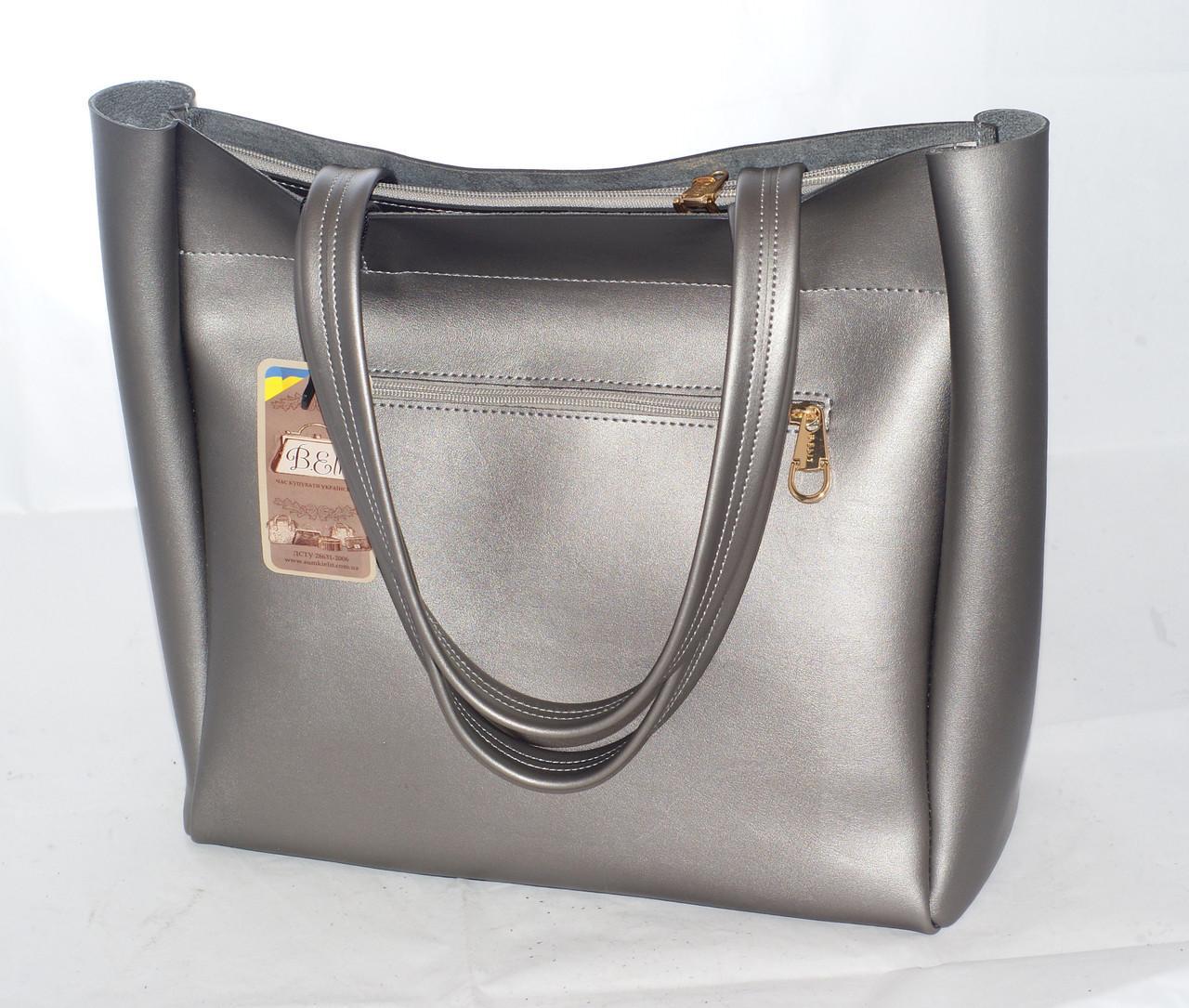 bd0fcca05031 ... фото · Большая женская сумка-шоппер B.Elit, цвет графит (серый), ...