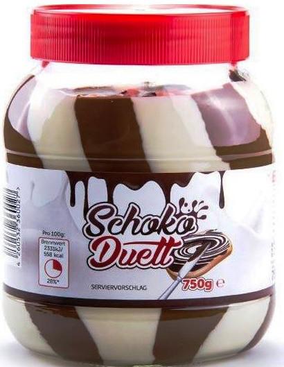 Шоколадно-горіховий крем (паста) Schoko Duett Німеччина 750г