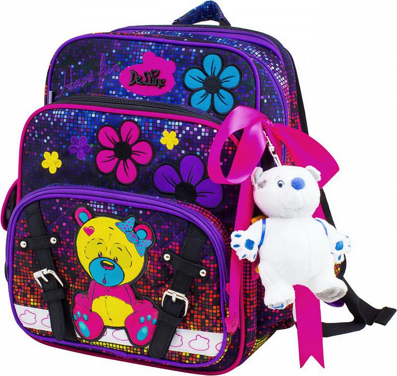 e1d06e94cf15 Ранец школьный DeLune мишка рюкзак детский ортопедический для девочек  фабричный
