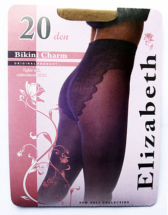 Колготки Elizabeth 20 den Bikini Charm visone (бежевые), фото 2