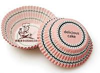 Капсула для капкейка Радиал розовый Cake 48 шт., фото 1