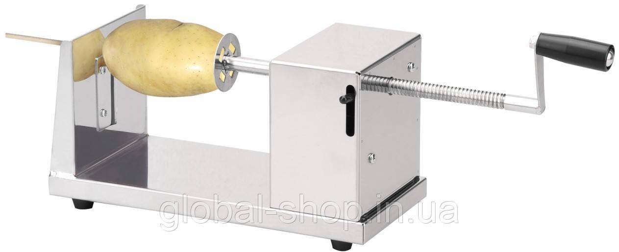 """Слайсер  Овощерезка для нарезки овощей спиралью """"Stainless Steel Potato Slicer"""""""