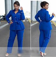 Женский костюм рубашка с брюками, с 50-60 размер, фото 1