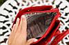 Маленькая женская сумка через плечо красная, фото 4
