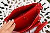 Маленькая женская сумка через плечо красная, фото 3