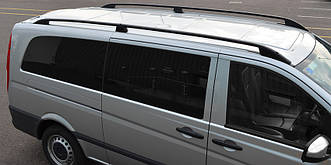 Рейлинги Mercedes Vito (639) 2003- /тип Crown/Длин.база/Черный