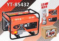 Электрогенератор бензиновий 2,5 кВт./220В, бак 15л., YATO YT-85432