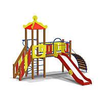 Детский игровой комплекс Мостик (детские площадки) Горка и Спиральный пилон