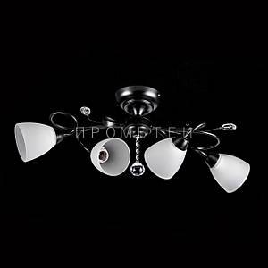 Потолочная люстра на 4 лампочки P3-26422/4C/BK+WT