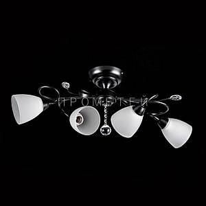 Стельова люстра на 4 лампочки P3-26422/4C/BK+WT