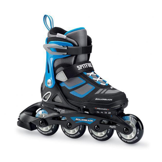 Роликовые коньки Rollerblade SPITFIRE Black/Blue 33-36,5