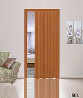 Дверь гармошка глухая вишня 501