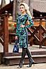 Женское трикотажное платье по фигуре с цветочным принтом (1265-1266-1267 svt), фото 4