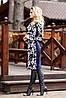 Женское трикотажное платье по фигуре с цветочным принтом (1265-1266-1267 svt), фото 5