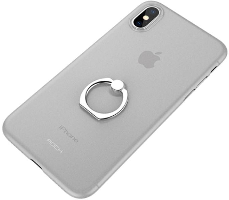 Чехол-накладка Rock Ring Holder PP Protection Case Apple iPhone X Transparent