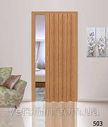 Дверь гармошка бук 503