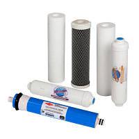Набор картриджей Aquafilter RO6-CRT + Мембрана Filmtec 75G
