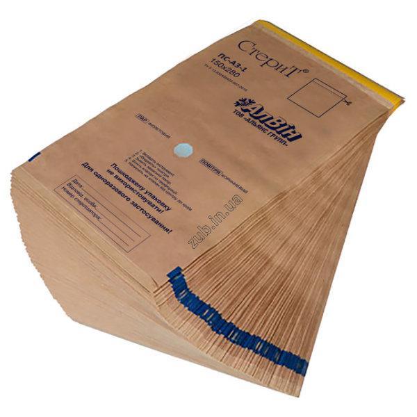 Крафт пакеты для стерилизации 150х250 мм. Альянс 100 шт.