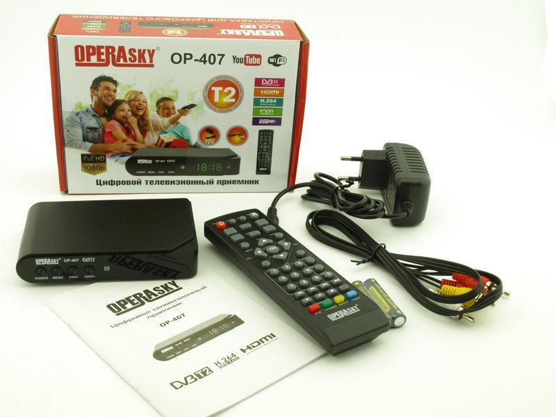 Приставка T2 OP-207 operasky, Т2 эфирный приемник, ТВ ресивер, ТВ тюнер, Телеприемник, цифровое телевидение
