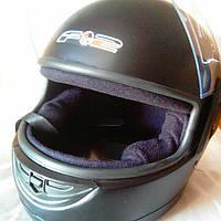Шлем для мотоцикла F-2 (Корея) черный мат