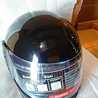 Шлем для мотоцикла F-2  (Корея) чорный глянец