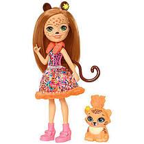 Кукла  Энчантималс Рысь Чериш и рысенок Квик-Квик / Enchantimals Cherish Cheetah Doll