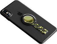 Чехол-накладка Rock TPU+PC MOC Protective Case Apple iPhone X Trans-Black