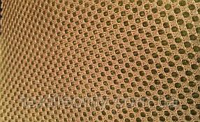 Сітка сумочно-взуттєва на поролоні артекс (airtex) колір койот\гірчиця
