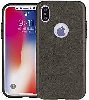 Чехол-накладка TOTO TPU Case Rose series 3 IN 1 iPhone X Black