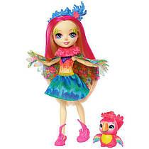 Кукла Энчантималс попугай Пикки и попугайчик Шинни / Enchantimals Peeki Parrot and Sheeny