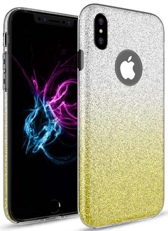 Чехол-накладка TOTO TPU Case Rose series Gradient 3 IN 1 iPhone X Yellow