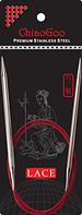 Стальные круговые спицы ChiaoGoo SS RED LACE 3,0 мм (80 см)
