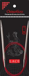 Стальные круговые спицы ChiaoGoo SS RED LACE 6,0 мм (80 см)