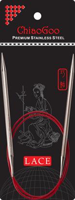 Стальные круговые спицы ChiaoGoo SS RED LACE 8,0 мм (80 см)