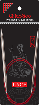 Стальные круговые спицы ChiaoGoo SS RED LACE 10,0 мм (80 см)
