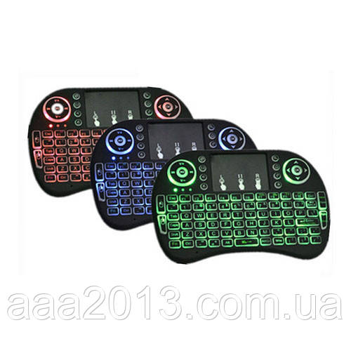 Беспроводная мини клавиатура, ТАЧПАД, аккумулятор, подсветка, АНГЛ